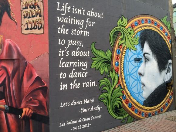 Wandmalerei in Las Palmas.